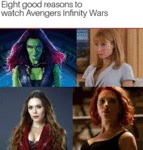 Eight Good Reasons To Watch Avengers Infinity...