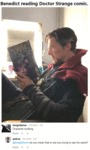 Benedict Reading Doctor Strange Comic