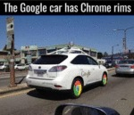 The Google Car Has Chrome Rims...