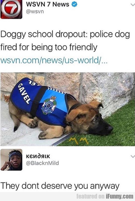 Doggy School Dropout - Police Dog Fired For...