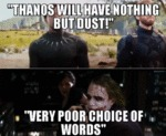 Thanos Will Have Nothing But Dust - Very Poor...