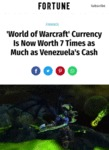 World Of Warcraft Currency Is Now Worth 7 Times...