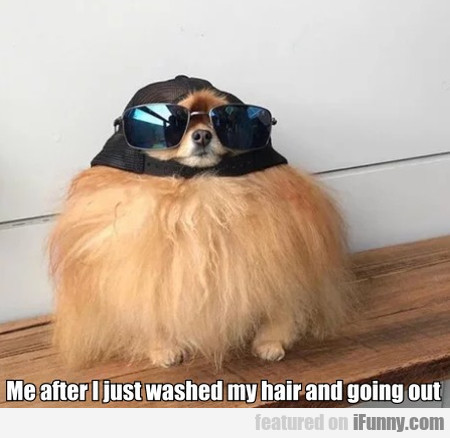 Me After I Just Washed My Hair And Going Out...