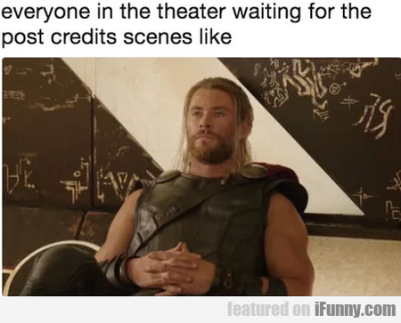Everyone On The Theater Waiting For The Post...