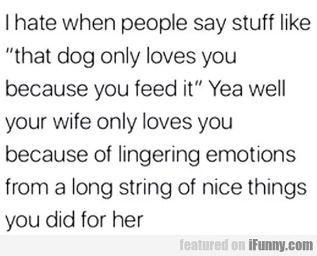 I Hate When People Say Stuff Like - That Dog...