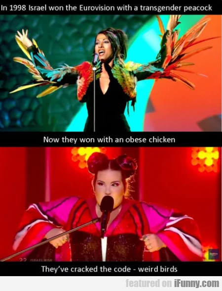 In 1998 Israel won the Eurovision with a...