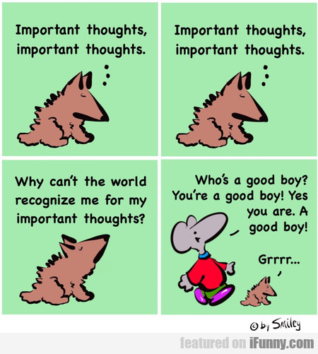 Important Thoughts... Important Thoughts...