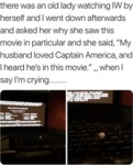 There Was An Old Lady Watching Iw By Herself...