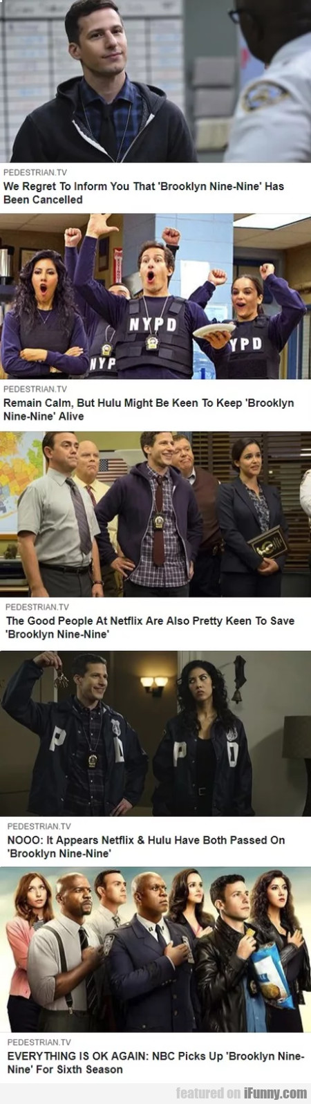 We Regret To Inform You That Brooklyn Nine Nine...