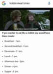 Hobbit Meal Times - If You Wanted To Eat Like...