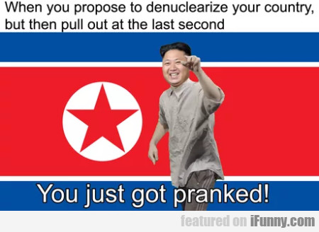 When You Propose To Denuclearize Your Country...