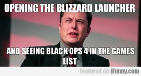 Opening The Blizzard Launcher And Seeing Black...