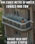 One Cubic Metre Of Water Equals One Ton - Great...