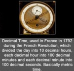 Decimal Time, Used In France In 1792 During The...