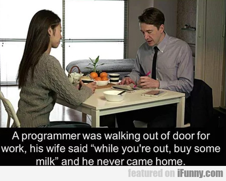 A Programmer Was Walking Out Of Door For...
