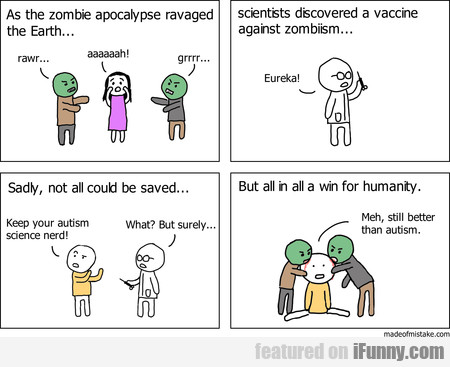 As The Zombie Apocalypse Ravaged The Earth...