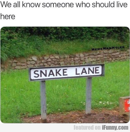 We All Know Someone Who Should Live Here