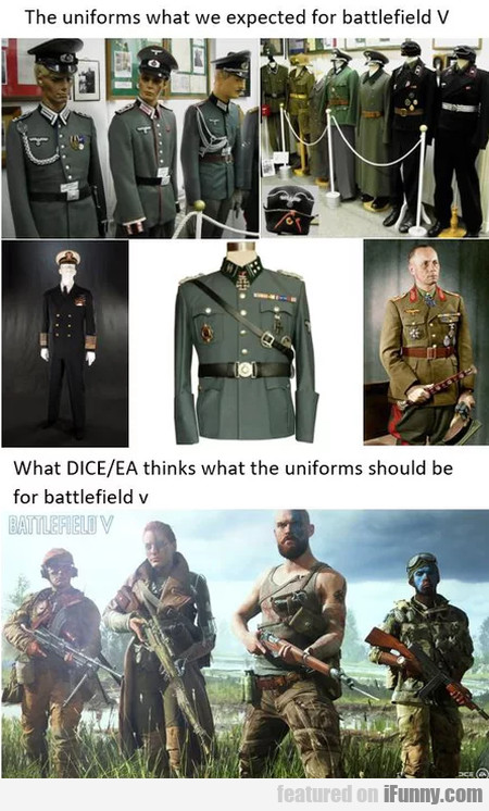 The Uniforms What We Expected For Battlefield V...