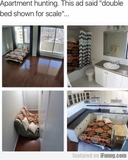 Apartment Hunting. This Ad Said Double Bed...