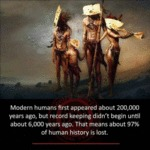 Modern Humans First Appeared About 200,000 Years..