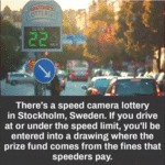 There's A Speed Camera Lottery In Stockholm...
