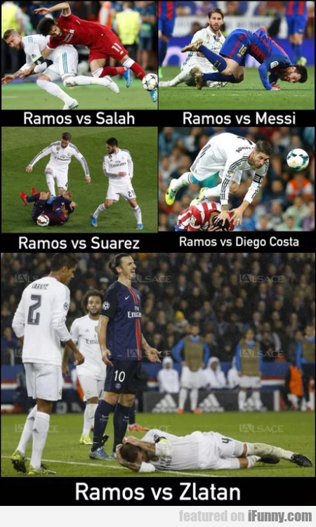 Ramos vs Salah - Ramos vs Messi - Ramos vs...