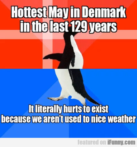 Hottest May in Denmark in the last 129 years...