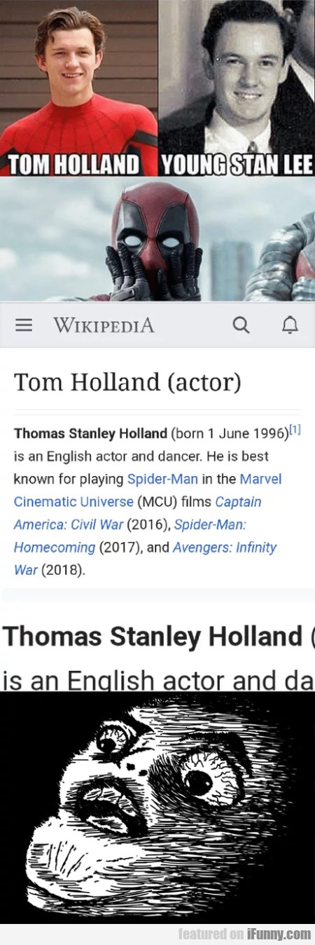 Tom Holland - Young Stan Lee - Tom Holland actor..