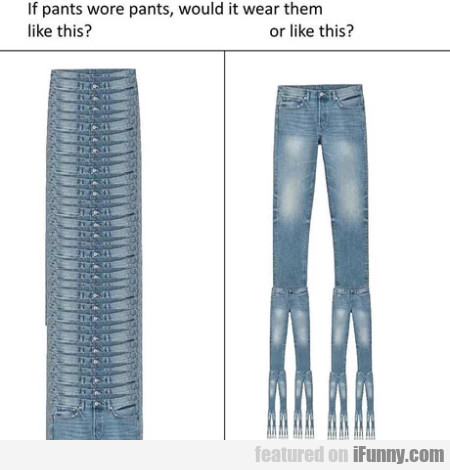 If Pants Wore Pants, Would It Wear Them Like?
