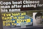 Cops Beat Chinese Man After Asking For His Name...