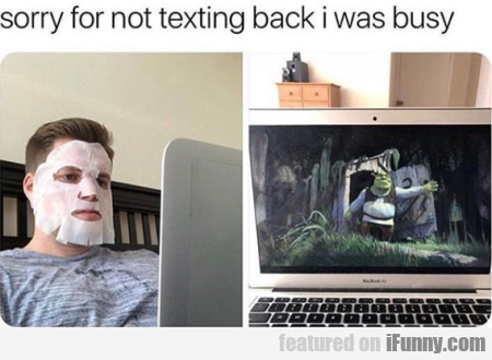 Sorry For Not Texting Back I Was Busy...