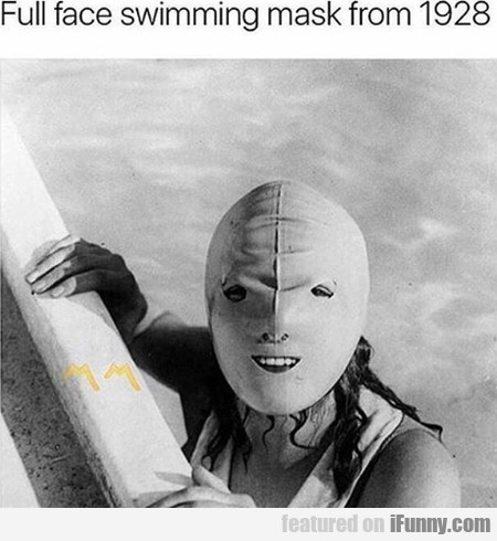 Full Face Swimming Mask From 1928...