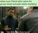 When Your Friend Who Came For Group Study...