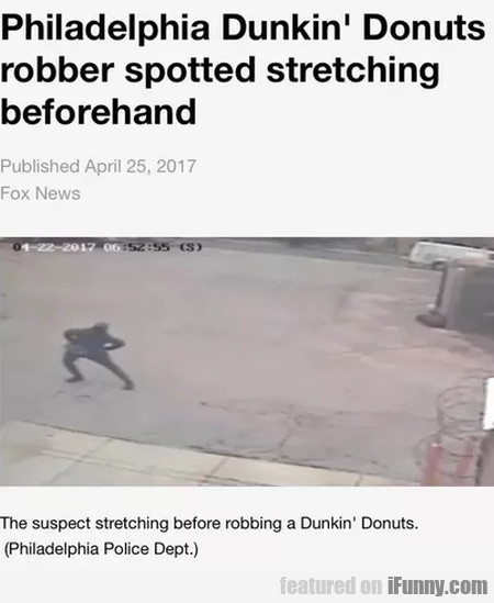Philadelphia Dunkin' Donuts Robber Spotted...