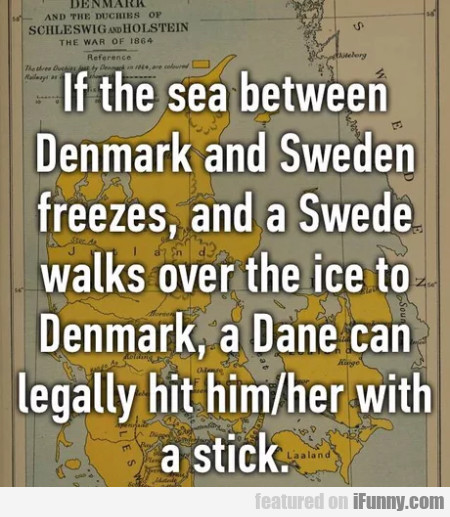 If The Sea Between Denmark And Sweden Freezes...