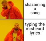 Shazaming A Song - Typing The Misheard Lyrics