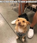 He Is Much Proud To Have Graduated!