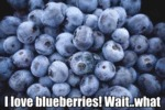 I Love Blueberries! Wait..what