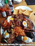 The One And Only Full English Breakfast...