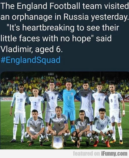 The England Football Team Visited An Orphanage...