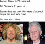 Sammy Hagar Is 70 Years Old. Bill Clinton Is 71...