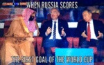 When Russia Scores The First Goal Of The World...