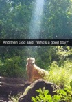 And Then God Said - Who's A Good Boy