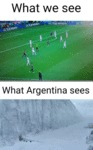 What We See - What Argentina Sees