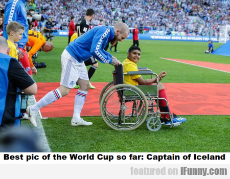 Best Pic Of The World Cup So Far - Captain Of...