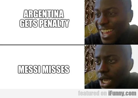 Argentina Gets Penalty - Messi Misses...
