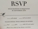 Rsvp - Your Respone Is Requested By September...