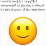 I Love This Emoji. Is It Happy - Is It Lowkey...