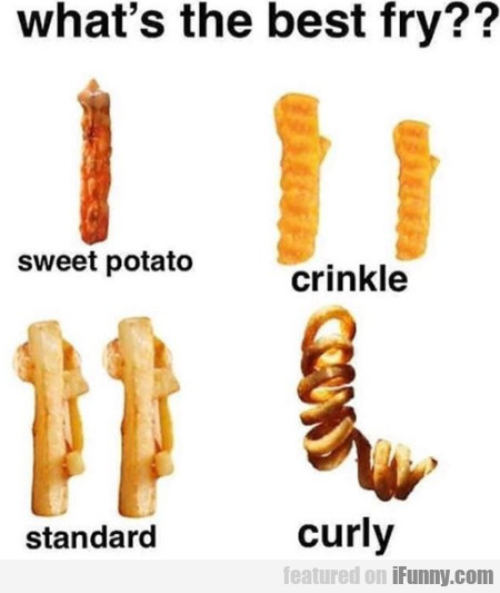 What's The Best Fry - Sweet Potato - Crinkle...
