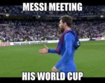 Messi Meeting His World Cup...